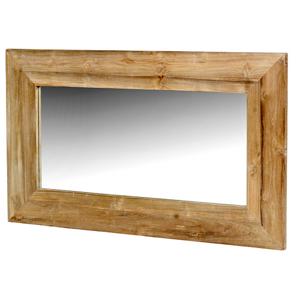 mahogany wood mirror with curvy top