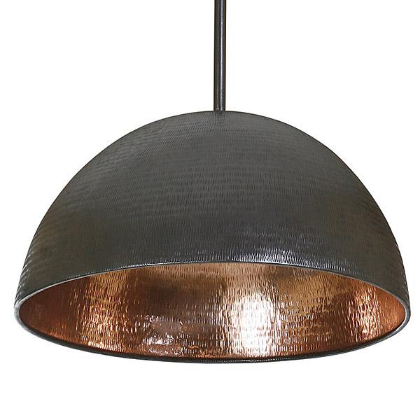 half ball copper lamp