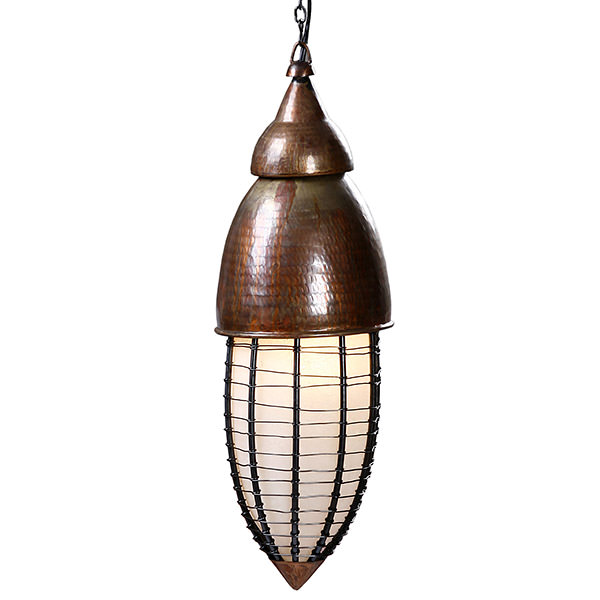 copper lamp with boat design