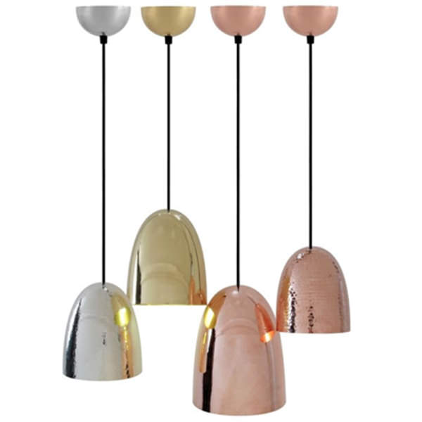 set of 4 copper lamps