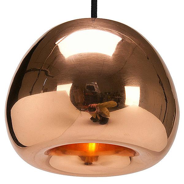 round copper lighting