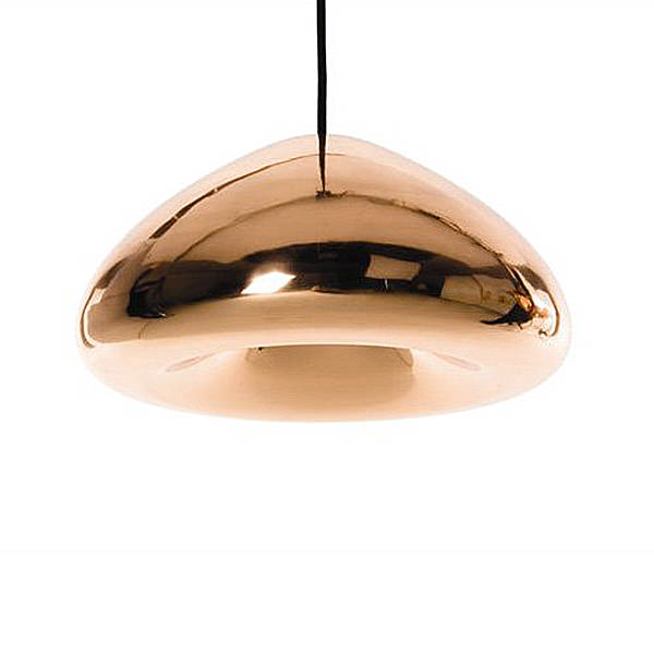 copper lighting with a ufo shape