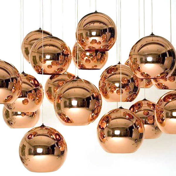 Set of copper lightings