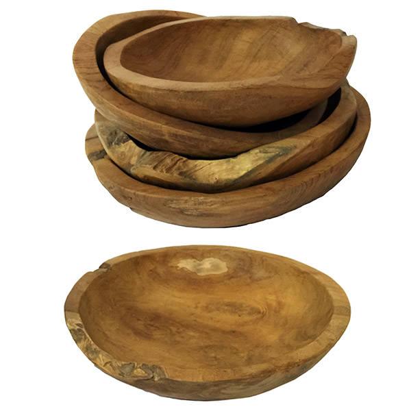 set of 5 teak plates
