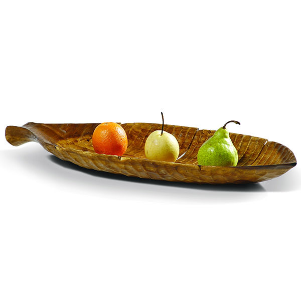 long teak fruit bowl