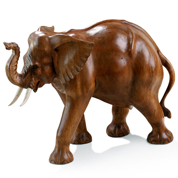 wood elephant figurine