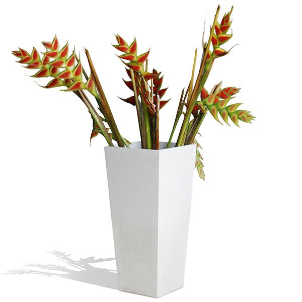 white square terrazzo flower pot