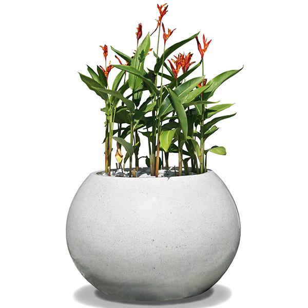 round white terrazzo flower pot