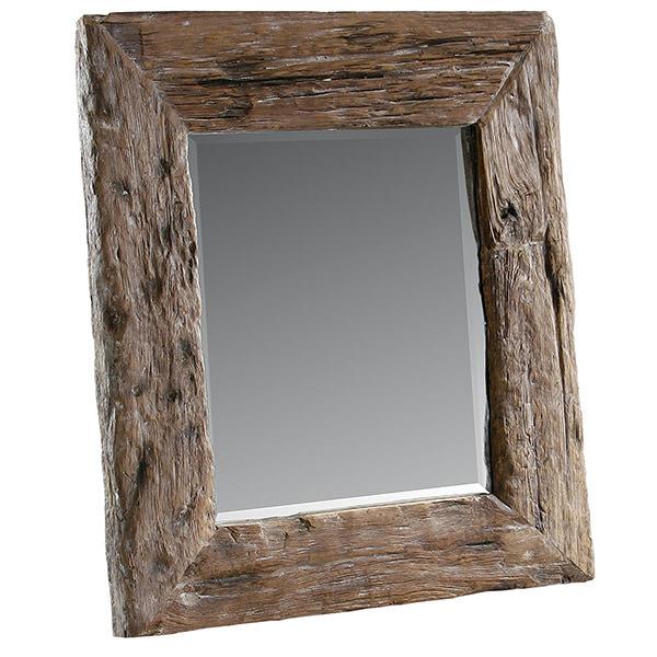recycled teak wood mirror