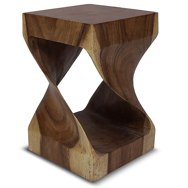 Twisted suar stool