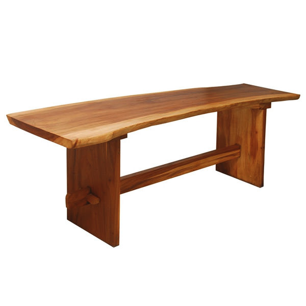 Suar dining table with natural shape