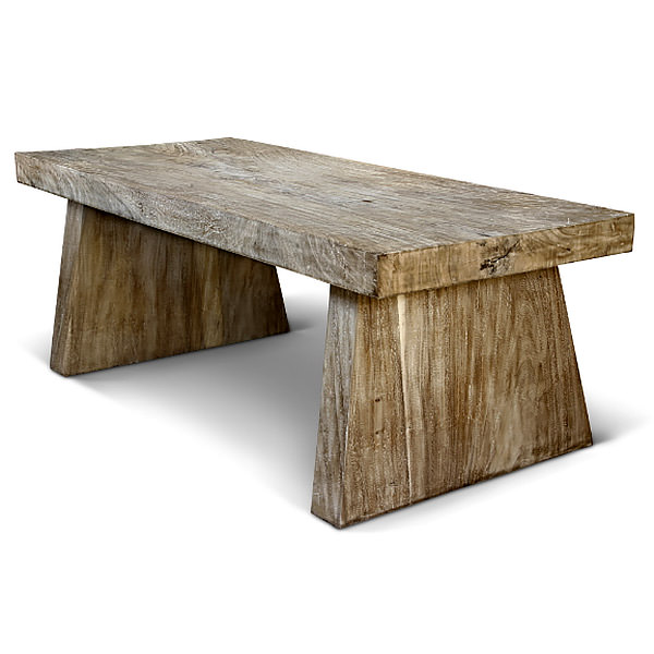 Suar dining table with distressed finishing