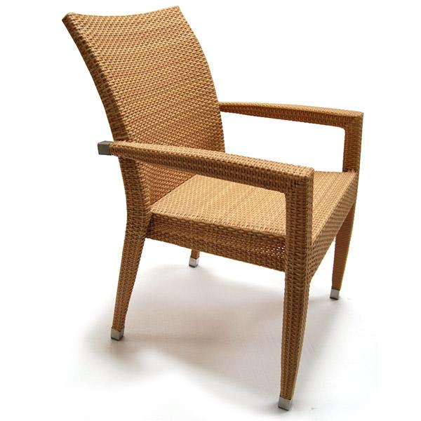synthetic rattan armchair