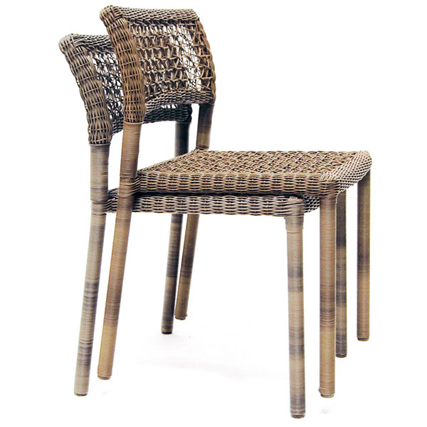Captivating Stackable Synthetic Rattan Chairs