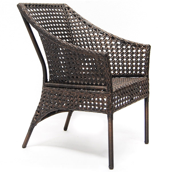 synthetic rattan armchair with modern design