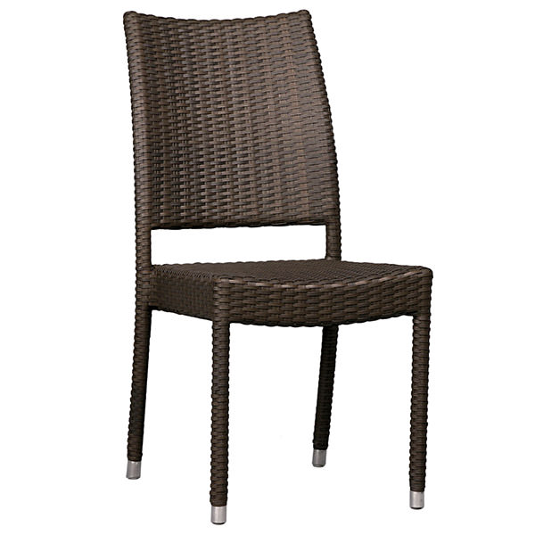 simple brown synthetic rattan chair