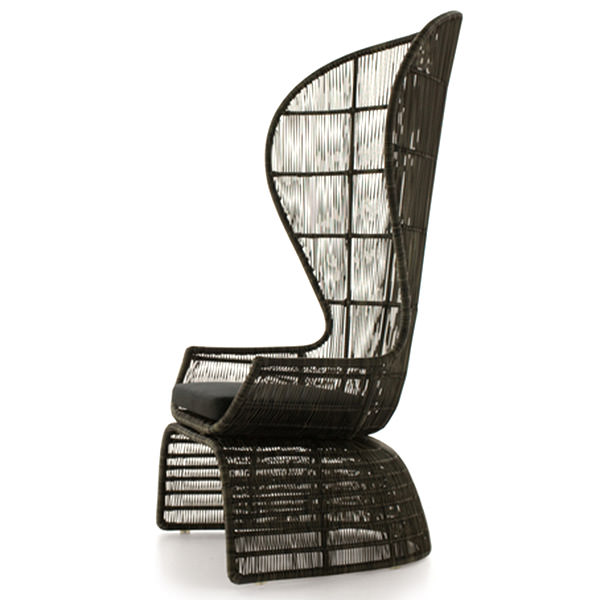 sensual synthetic rattan chair with big back