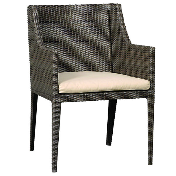 black synthetic rattan study chair