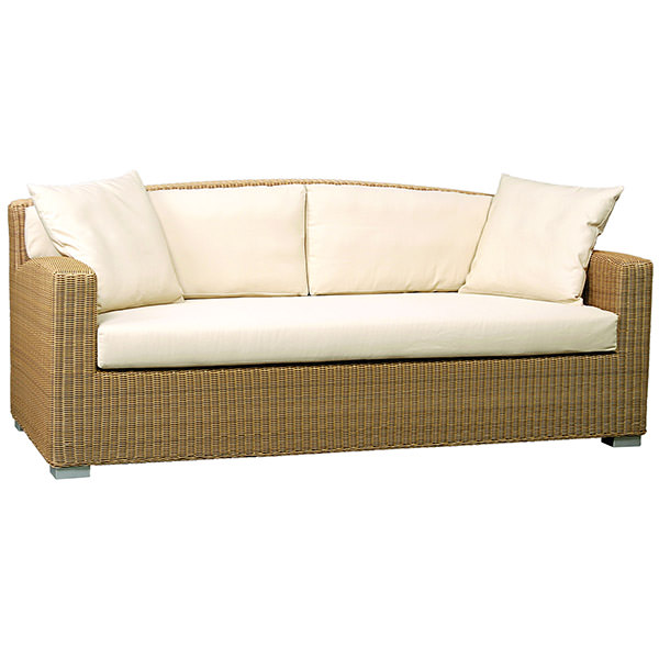 three seater synthetic rattan sofa