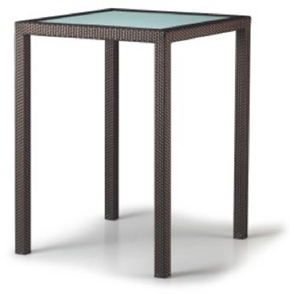 Synthetic Rattan Tables bar with glass top