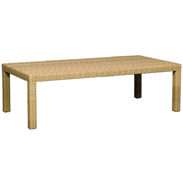 golden synthetic rattan coffee table