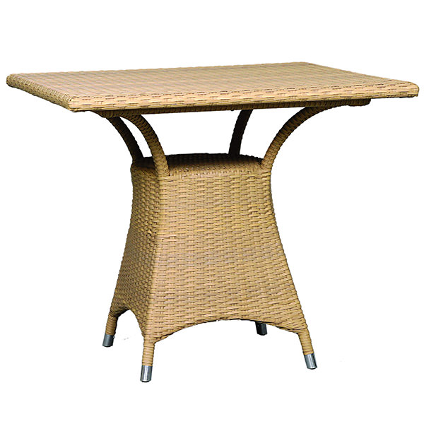 square synthetic rattan dining table