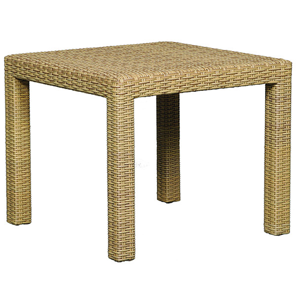 square synthetic rattan side table