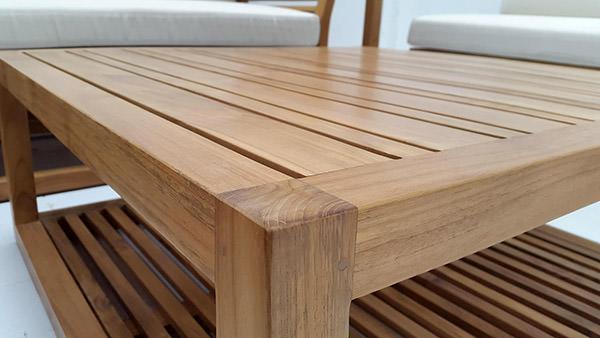 outdoor teak coffee table