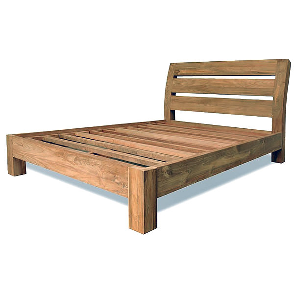 natural teak bed frame simple bed frame
