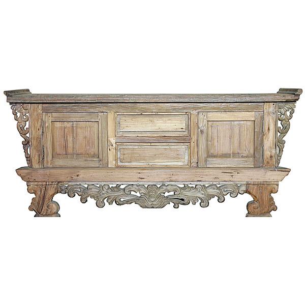 Natural teak cabinet