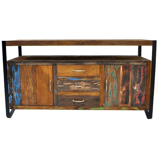 Natural teak wood TV cabinet