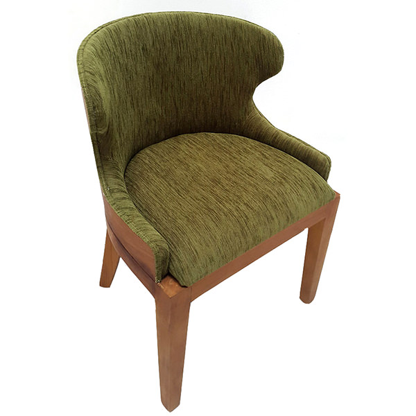 teak bar chair with wood and linen