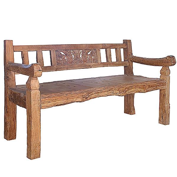 Indonesian teak bench