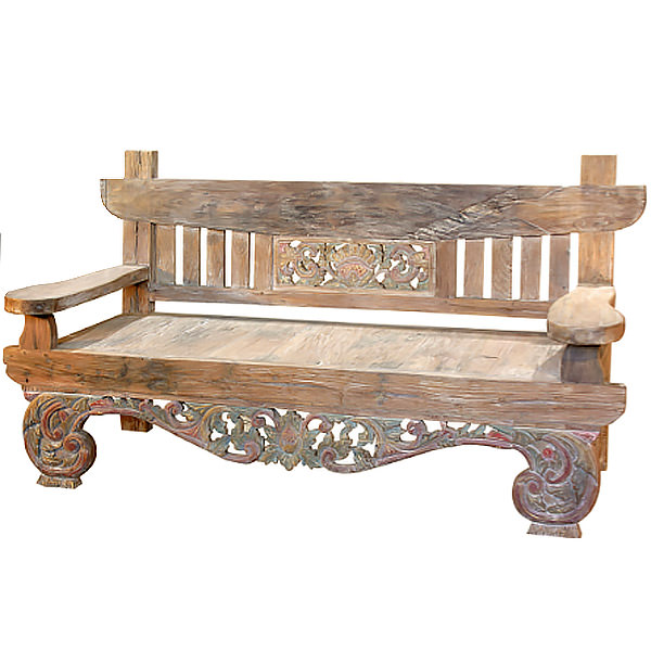 traditional teak bench