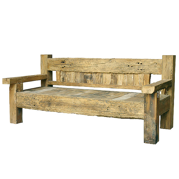 recycled teak bench