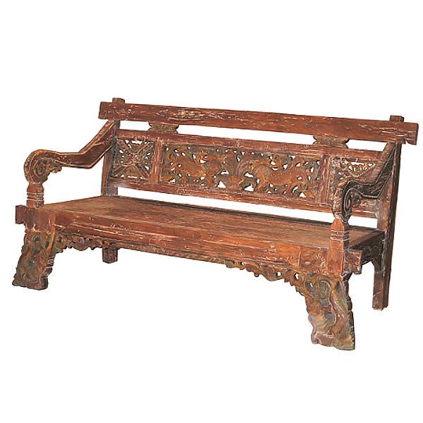 asian teak bench