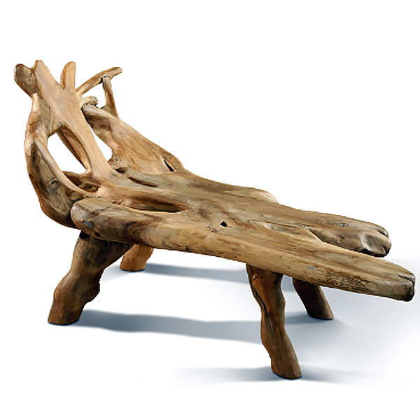 natural shape teak seat