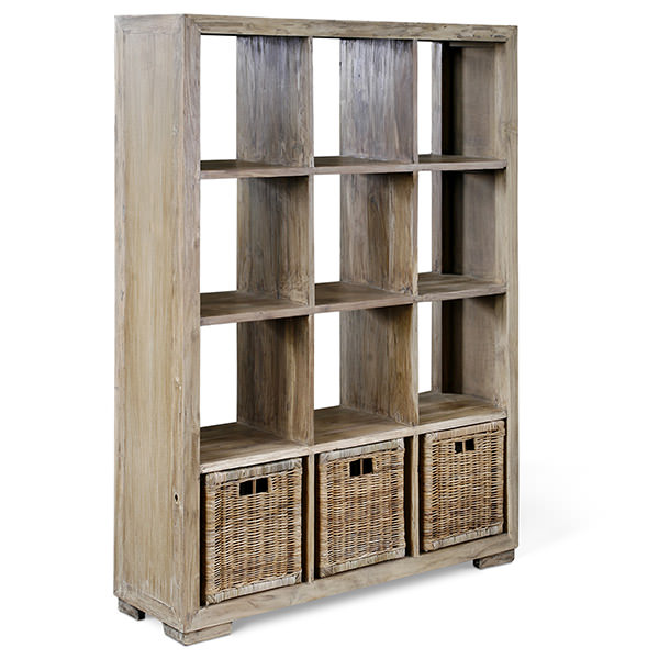 Teak book case with twelve shelves
