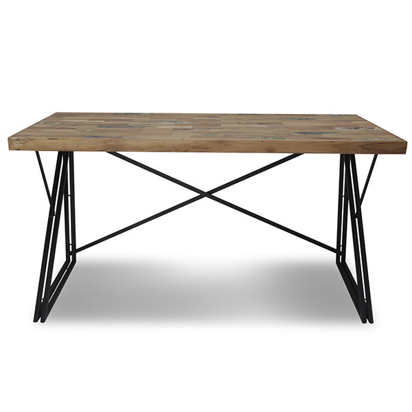 Metal and wood desk working table