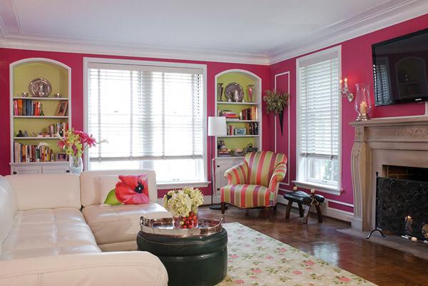 4 fa ons d 39 introduire de la couleur rose dans votre d coration. Black Bedroom Furniture Sets. Home Design Ideas