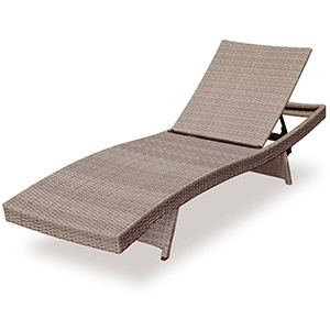 polyrattan lounge chair