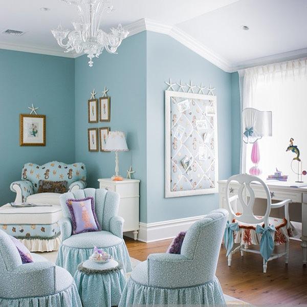 light blue girl bedroom