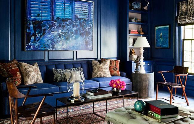 Navy blue decor