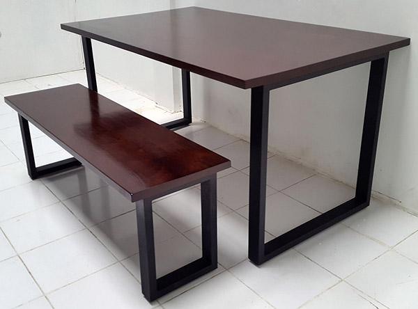dark brown mahogany table